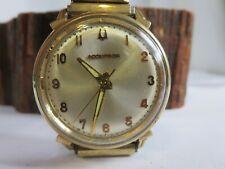 Vintage M6 1966 Bulova Accutron 214 10K Gold Filled Bezel SS Back - Running KCA4