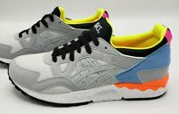 Asics Gel-Lyte V Mid Grey Yellow Orange Blue Running Shoes Women's Size 5.5