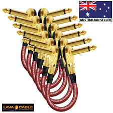 Gold 38cm Mogami 2524-Guitar Bass Effects Instrument Pedal Stomp Patch Cable