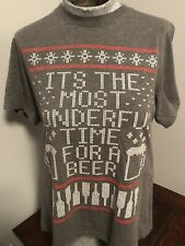 It's The Most Womderful Time For A Beer Christmas Tshirt Mens Size Medium