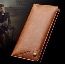 Premium Quality Leather Wallet Case XL for iPhone Samsung Beautiful Gift WUP08