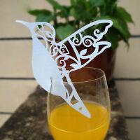 50Stk Platzkarten Namenskarten Tischkarte Vogel ans Glas Hochzeit Taufe TischSet