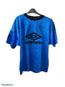 Vintage 1990 England Umbro Pro Training Blue. Vintage Retro rare Size S UK
