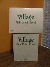 Dept 56 Pine Point Mill Creek Pond Wilderness Forest Christmas Village Accessory