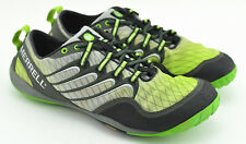 MENS MERRELL BAREFOOT RUNNING SHOES SIZE 8 US GRAY GREEN BLACK WATER TRAIL