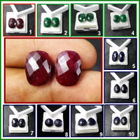 Details about  /14x9mm Natural Pear Shape Violet Amethyst Pair Loose Gemstone For Earring Use