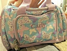 Pottery Barn Kids Girls Purple Butterfly Duffle Bag With Carly Name