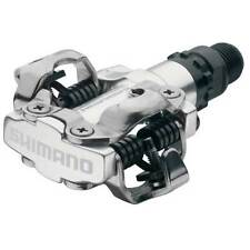 68a4149a7b8 Shimano Pdm520 Clipless SPD Pedal Silver M520 Pedals No Cleats