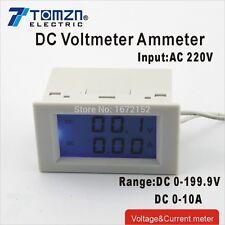 DC Voltage and current meter voltmeter ammeter range DC 0-199.9V 0-10A AC 220V