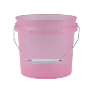 Leaktite Translucent Pink 1 Gallon Pail with White Lid