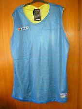 Legea Running Shirt Reversible Vest Blue & Yellow Brand New Tags size 2XL 46/48