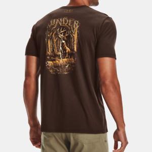 Under Armour Men's UA Heatgear Aggressive Whitetail Short Sleeve T-Shirt. Timber