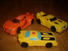 EUC Lot of 3 Cars 2 Transformers Mini Cars Orange Yellow McDonalds