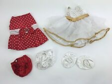 Build A Bear Lot Clothes Dresses Red White Gold