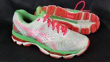 Asics T557N Gel Nimbus 17 Running Training Shoes Womens Size 6 Coral Apple
