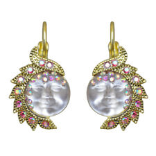 Kirks Folly Seaview Moon Goddess In Wonderland Leverback Earrings (Goldtone)