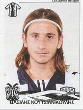 N°285 VASILIS KOUTSIANIKOULIS PAOK FC STICKER PANINI GREEK GREECE LEAGUE 2010
