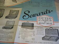 """1930 SEWARD TRUNK & BAG Co., LUGGAGE, SUITCASE LARGE 18""""x24"""" UNFOLDING BROCHURE"""
