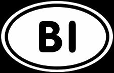 BI Sticker Bisexual Man Woman Love Gay Lesbian Decal