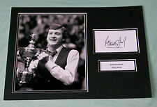 STEVE DAVIS SNOOKER HAND SIGNED AUTOGRAPH PHOTO MOUNT