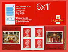 PM42 2014 6 x 1st Buckingham Palace Self Adhesive Booklet.