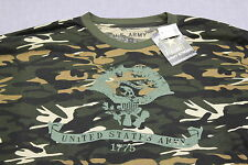 US ARMY OFFICIAL LICENSED Mens MILITARY GREEN CAMOUFLAGE CAMO SS T-SHIRT NWT 2XL