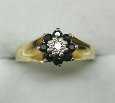 1970's Vintage 18ct Gold Sapphire And Diamond Ring