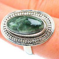 Large Seraphinite 925 Sterling Silver Ring Size 9 Ana Co Jewelry R53290