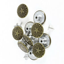 Jeans Knopf 10 stück mit Niete  silber antik  muster   knöpfe 17,5 mm   #37#