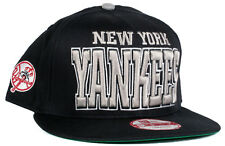 New York Yankees Navy & Grey Big Block Logo 9Fifty New Era Snapback Baseball Hat