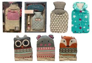 NEXT Hot Water Bottles Character Wheat Bags Bottle Faux Fur Winter Cold