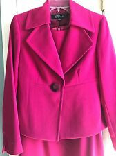 NWT Kasper Womens Pink Magenta 2PC Sleeveless Dress Suit Jacket Blazer 4