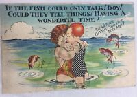 Vintage Postcard If the Fish Could Only Talk Virginia Beach 1939