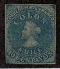 Chile,Scott#12,10c,wmk.f,MH,Scott=$40
