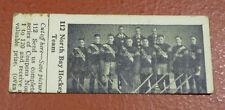1924-25 Dominion Chocolate Hockey Card North Bay Hockey Team #112