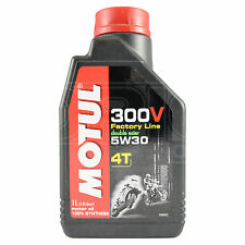 Motul 300V Factory Line 5W-30 4T Motorcycle Engine Oil Ester Synth 1 Litre 1L