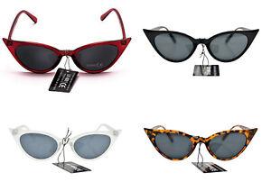 Cat Eye UV400 Sunglasses Retro1950/60s Fashion In 4 Colours & Metal Hinges SG58