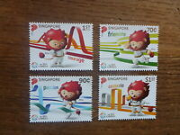 2015 SINGAPORE ASIAN GAMES SET 4 MINT STAMPS