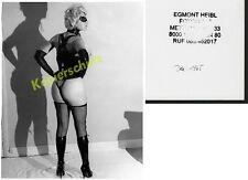 orig s/w-Foto Frau nude Korsett Fetisch Stiefel Hintern Busen Erotik Voyeur 1965