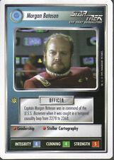 STAR TREK CCG WHITE BORDER PREMIERE 1995 BETA RARE CARD MORGAN BATESON