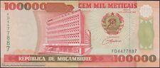 TWN - MOZAMBIQUE 139 - 100000 100.000 Meticais 16/6/1993 UNC Prefix FD