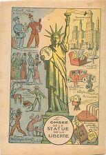 Caricature Ombre Statue de la Liberté Prohibition Alcools Vols 1932 ILLUSTRATION