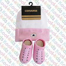 Converse Chuck Taylor Pink Hat & Sock/Bootie set -0/6 months BNWTS