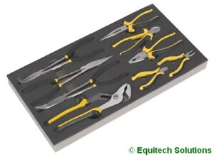 Sealey (Siegen) S01129 Tool Chest Tray Pliers Cutter Set Long Nose Side Water