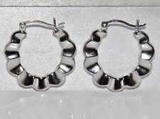 STERLING SILVER (925) LADIES CREOLE HOOP EARRINGS -
