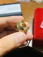 "18K Saudi Gold Ring Size 7""-7.5"