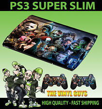 PLAYSTATION ps3 SLIM HORROR montaggio Super Evil Cattivo Skin adesivo & 2 Pad Pelle