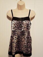 Women's/Misses Super Cute II.Cielo Leopard Print Shirt Tank Top/Cami Size S or L