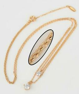 """9ct/9k Yellow """"Gold Filled"""" Delicate very Slim  Necklace 18"""" adjustable Girls,"""