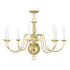 Livex Lighting Williamsburg Chandelier in Polished Brass - 5007-02